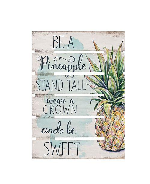 P Graham Dunn Be A Pineapple Wall Art