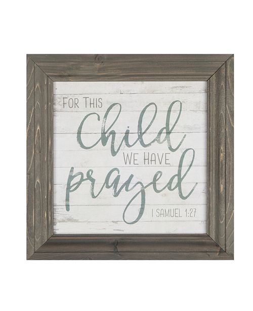 P Graham Dunn For This Child We Have Prayed Wall Art