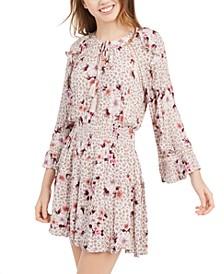 Juniors' Ruffled Floral-Print Peasant Dress, Created For Macy's