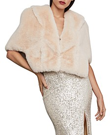 Dakota Faux-Fur Cape
