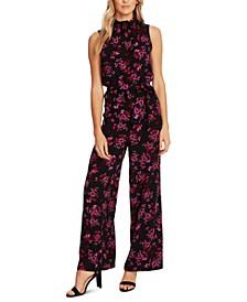 Floral-Print Wide-Leg Jumpsuit