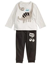 Toddler Boys Dinosaur-Print T-Shirt & Hi-Print Jogger Pants, Created For Macy's