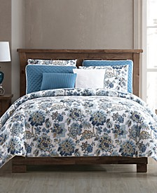 Vina 8-Pc. Floral King Comforter and Quilt Set