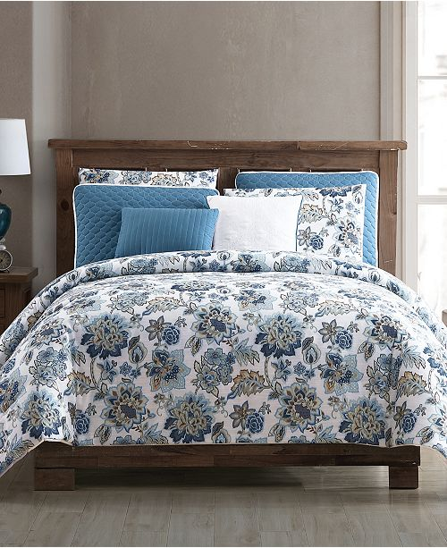 Hallmart Collectibles Vina 8-Pc. Floral Queen Comforter and Quilt Set