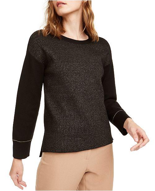 Anne Klein Lurex Shimmer Sweater