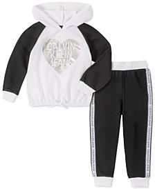Toddler Girls 2-Pc. Logo Fleece Hoodie & Jogger Pants Set