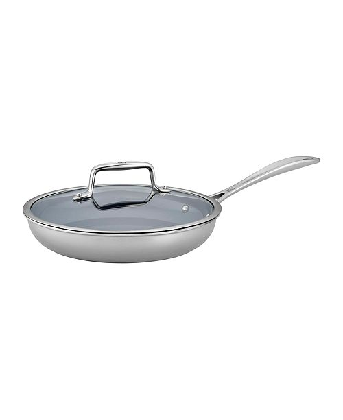 "J.A. Henckels Zwilling Clad CFX Fry Pan Set 9.5"" with Glass Lid"