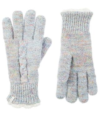 Women's Recycled Yarn Mohair Cable Knit Gloves