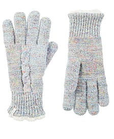 isotoner Women's Recycled Yarn Mohair Cable Knit Gloves