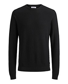 Men's Cotton Structured Crew Neck Long Sleeve Sweater