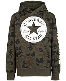 Big Boys Camouflage Chuck Patch Fleece Logo Hoodie
