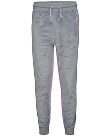 Big Girls Striped Velour Fleece Jogger Pants