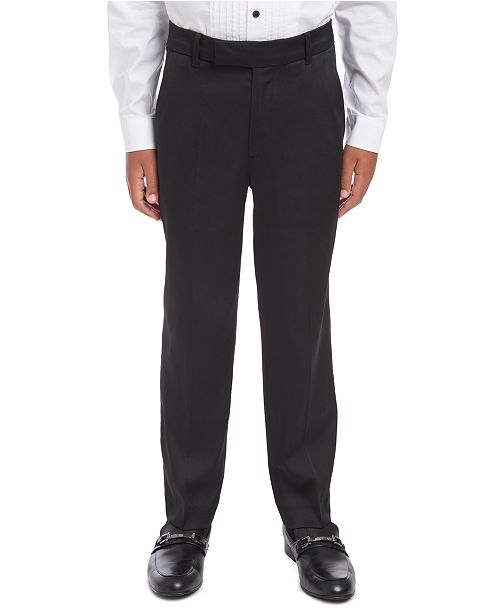 Calvin Klein Big Boys Slim-Fit Stretch Satin Dress Pants