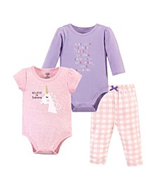 Baby Girl and Boy 2-Bodysuits and Pant