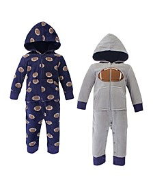 Boy Fleece Union Suits 2 Pack