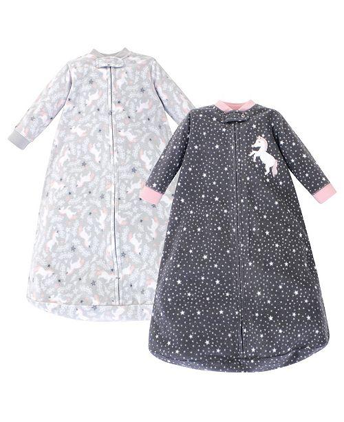 Hudson Baby Girl Fleece Long Sleeve Sleeping Bag 2 Pack