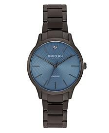 Men's Gunmetal Stainless Steel Bracelet Watch, 41mm