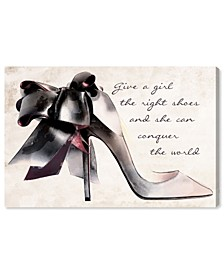 "Give a Girl Canvas Art - 15"" x 10"" x 1.5"""
