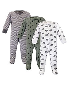 Baby Boy Organic Sleep and Play 3 Pack