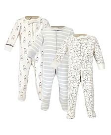Baby Girl and Boy Organic Sleep and Play 3 Pack