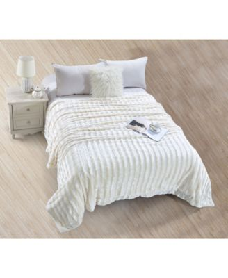 Striped Super Soft Blanket - Twin
