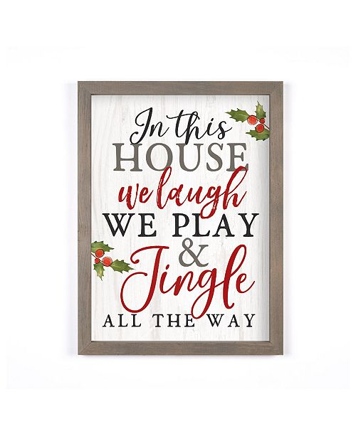 P Graham Dunn In This House We Play & Jingle All The Way Wall Art