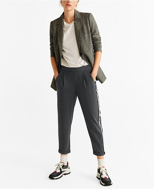 MANGO Contrasting Panels Trousers