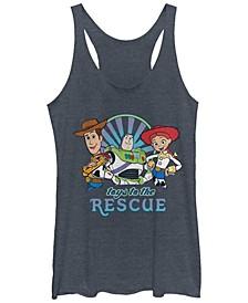 Disney Pixar Juniors' Toy Story 4 Rescue Tri-Blend Tank Top