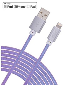 IRIDESCENT 6FT Apple Certified Lightning MFI Charging Cable- Iphone/Ipad Charger