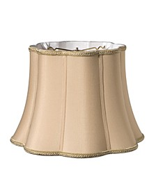 Slant Melon Out Scallop Softback Lampshade with Washer Fitter