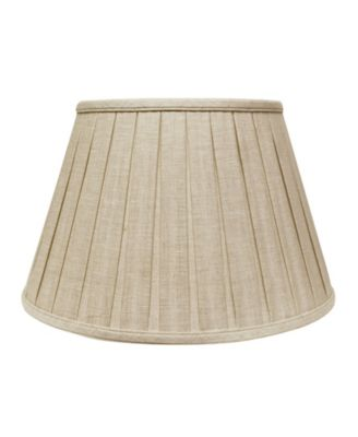 Slant Linen Box Pleat Softback Lampshade with Washer Fitter