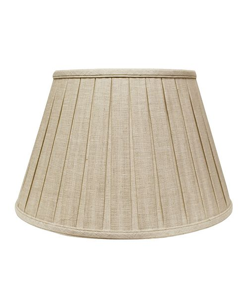 Cloth&Wire Slant Linen Box Pleat Softback Lampshade with Washer Fitter