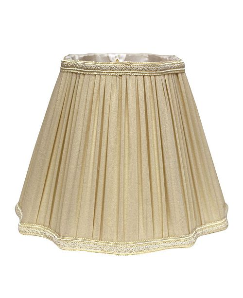 Cloth&Wire Slant Fancy Square Pleated Softback Lampshade with Washer Fitter