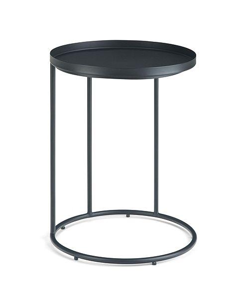 Simpli Home Monet Side Table, Quick Ship
