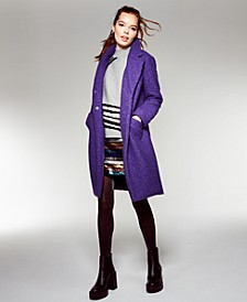 Textured Boucle Coat, Created For Macy's