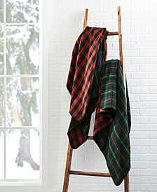 Ridgeline Reversible Wool Blend Tartan Throw