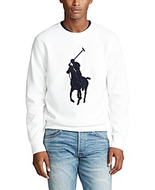 Men's Double-Knit Big Pony Crew Neck Sweatshirt