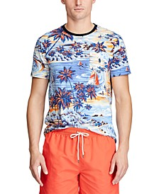 Men's Classic Fit Tropical-Print T-Shirt