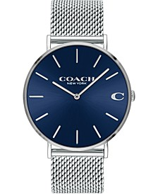 Men's Charles Stainless Steel Mesh Bracelet Watch 36mm