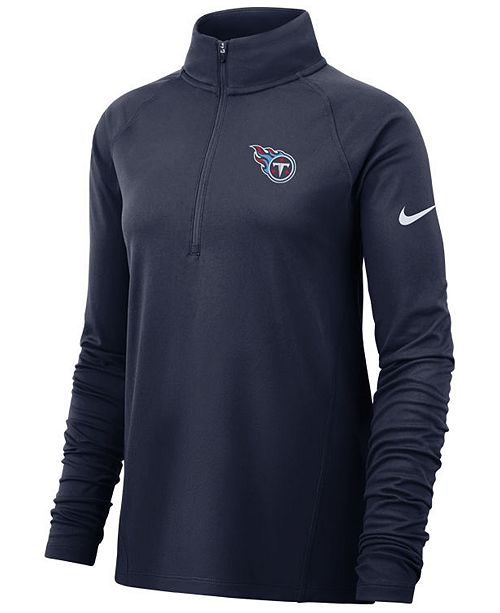 Nike Women's Tennessee Titans Pro Half-Zip Element Pullover