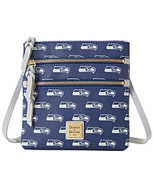 Seattle Seahawks Saffiano Triple Zip Crossbody
