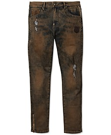 Men's Farms Slim-Straight Stretch Destroyed Jeans