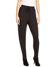 Sequin Side-Stripe Joggers, Created For Macy's