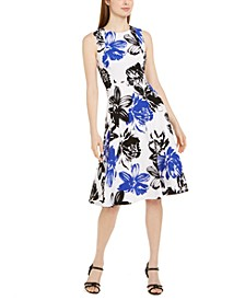 Big Floral Printed Midi Dress