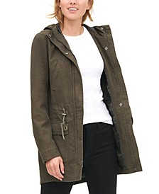 Cotton Hooded Fishtail Parka Jacket