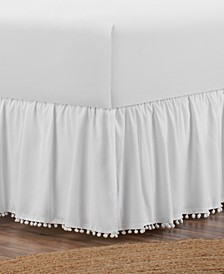 Belles & Whistles Pom Pom Trim Twin Bed Skirt