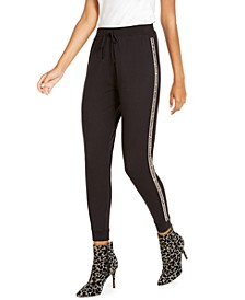 Embellished Side-Stripe Joggers, Created For Macy's