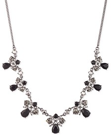 "Crystal Frontal Necklace, 16"" + 3"" extender"