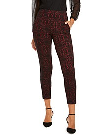 Printed Skinny Cropped Trousers, Creayed For Macy's