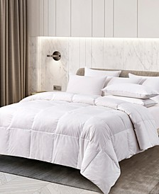 All Season White Goose Feather and Down Fiber Comforter, Full/Queen